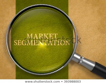 Market Segmentation Concept through Magnifier. Stock photo © tashatuvango