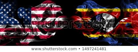 Piłka nożna płomienie banderą Suazi czarny 3d ilustracji Zdjęcia stock © MikhailMishchenko