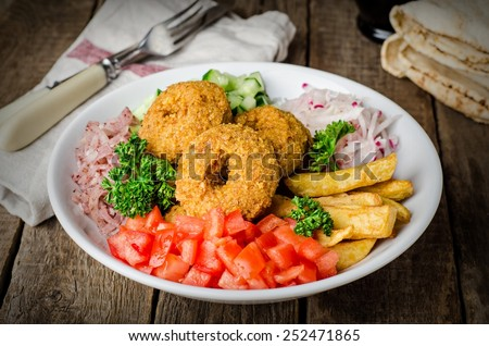 falafel vegetarian ball stock photo © m-studio