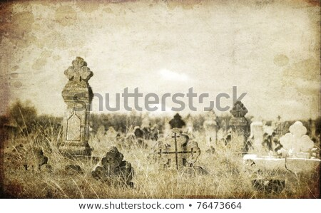 Old orthodox graves of 19s century Stock photo © Massonforstock