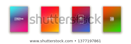 Flat abstract gradient background with grunge texture Stock photo © igor_shmel