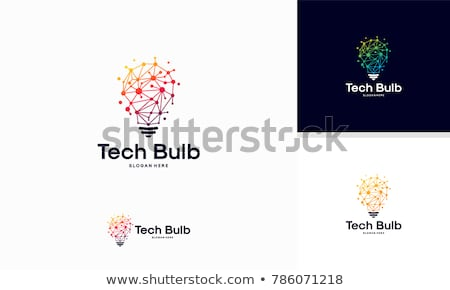 Idea Concept: Bulb Lamp - Web Icon on Pixelated Background. Stock photo © tashatuvango