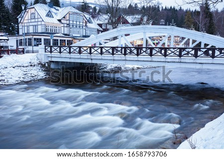 зима · основной · квадратный · Чешская · республика · город · снега - Сток-фото © benkrut