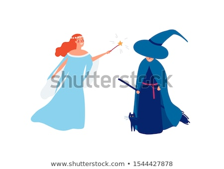 Cartoon Angry Girl Witch Stock photo © cthoman