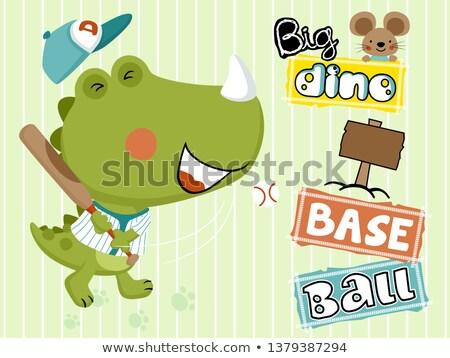 Cartoon Dinosaur Baseball Stock photo © cthoman