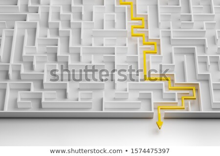 High Angle View Of White Maze Stock photo © AndreyPopov