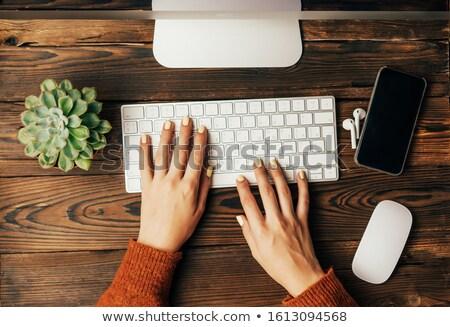 flat type Delivery women_desk work Stock photo © toyotoyo