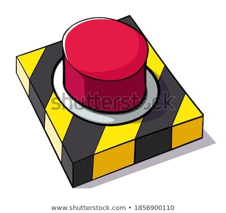 technische · Rood · knop · ontwerp · netwerk - stockfoto © linetale