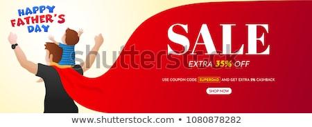 Akció bannerek szülők gyerekek prémium minőség Stock fotó © robuart