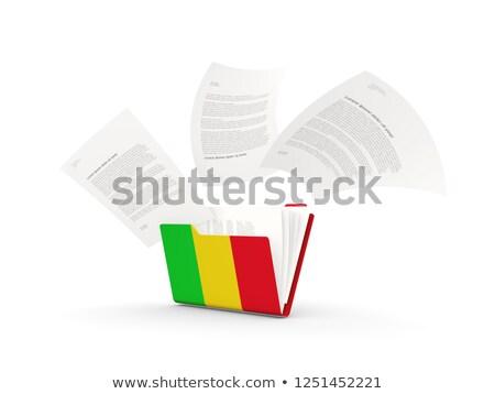 флаг · Мали · флагшток · 3d · визуализации · изолированный · белый - Сток-фото © mikhailmishchenko