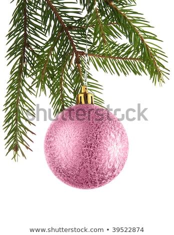 różowy · christmas · dekoracje · ozdoby · pasiasty - zdjęcia stock © neirfy
