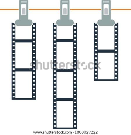 アイコン 写真 映画 ロープ 洗濯挟み 薄い ストックフォト © angelp