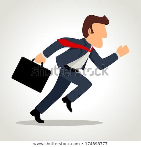 Illustration of a running businessman  Stock photo © Blue_daemon