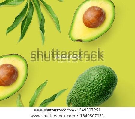 érett avokádó gyümölcs fehér kézzel rajzolt levél Stock fotó © Artspace