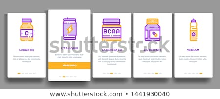 Sport Nutrition Cells Vector Onboarding Stock photo © pikepicture