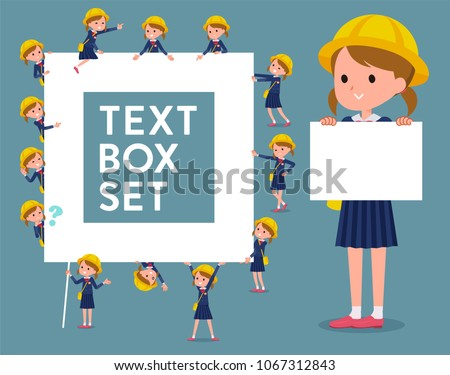 flat type primary school girl_icon stock photo © toyotoyo
