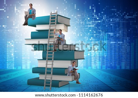 Businesswoman student climbing the ladder of education books Stock photo © Elnur