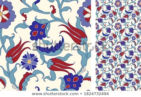 Abstract textiel keramiek vector groene Stockfoto © TRIKONA