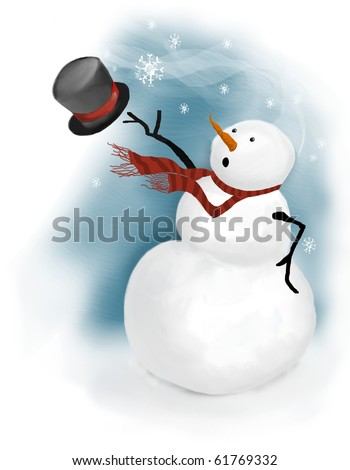merry christmas white background with snowflake breeze Stock photo © SArts