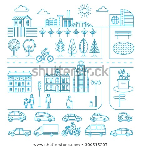 City Transport Line Design Template Stock photo © Anna_leni