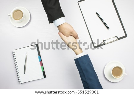 Top view of lawyer teams negotiating an agreement Stock photo © Kzenon