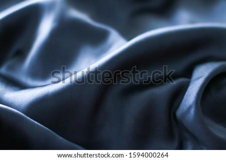 Luxo escuro azul macio seda textura Foto stock © Anneleven