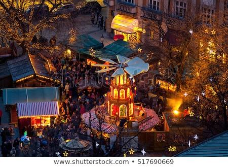 Noel pazar Münih Almanya kare kış Stok fotoğraf © borisb17