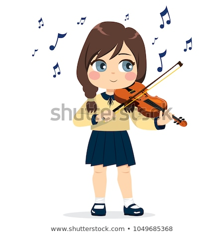 Woman violinist playing in a classical recital Stock photo © Giulio_Fornasar