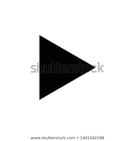 Trójkąt ikona wektora projektu ilustracja szablon Zdjęcia stock © Ggs