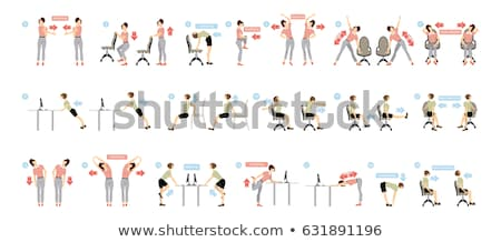 Woman Employee Doing Stretch Exercise Stock photo © AndreyPopov