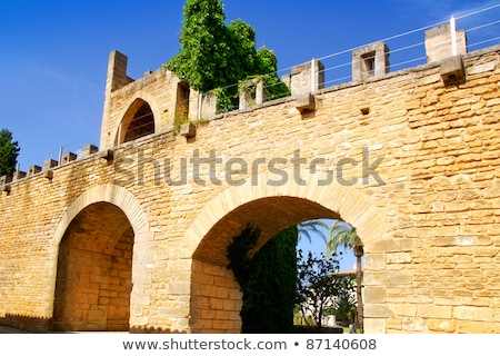 La mallorca castelo norte parede porta Foto stock © lunamarina