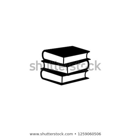книгах изолированный белый книга группа Сток-фото © posterize
