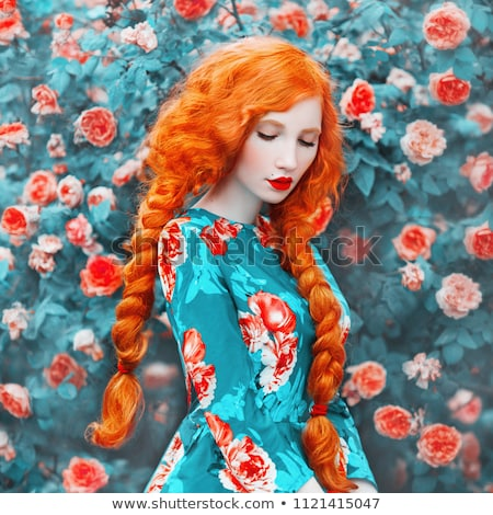 plait with a red flower stock photo © pekour
