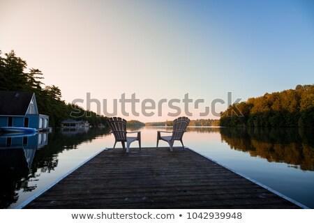 Lakeside dock summer dawn Stock photo © jsnover