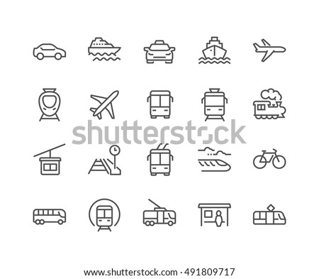 Set of transport icons - truck stock photo © Ecelop