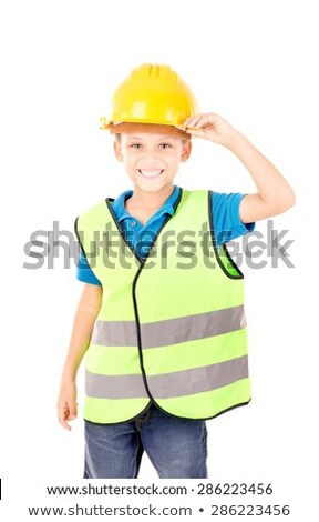 Child pretending to be a traffic guard Stock photo © photography33