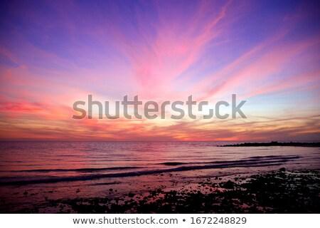 Okyanus gündoğumu tropikal plaj bulutlar Stok fotoğraf © dmitry_rukhlenko