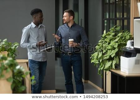 Dwa biznesmenów korytarzu działalności biuro tle Zdjęcia stock © photography33