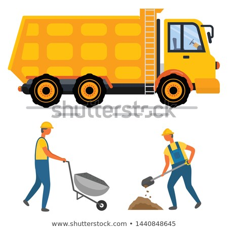 Road-side worker with wheelbarrow Stock photo © photography33