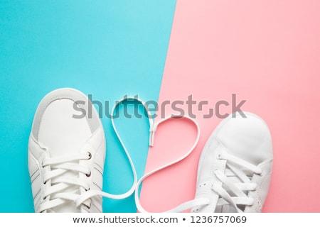 Pair blue women's shoes Stock photo © a2bb5s
