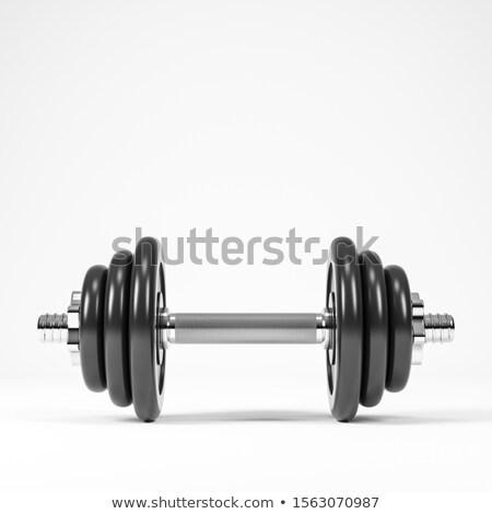 3D フィットネス 重み 白 作業 スポーツ ストックフォト © digitalgenetics