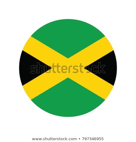 bayrak · Jamaika · afiş · kaba · model · doku - stok fotoğraf © zeffss