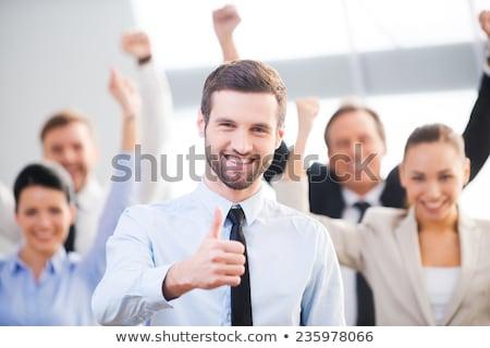 Masculina mano pulgar hasta positividad Foto stock © Len44ik