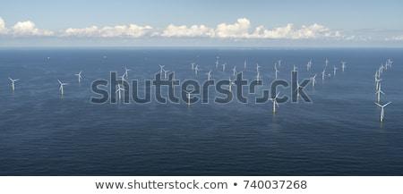 Aerial View of Wind Turbines Stock photo © eldadcarin