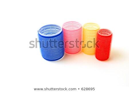 Four velcro rollers Stock photo © sarahdoow