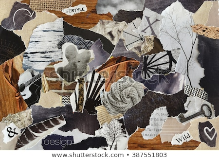 pollution on the beach grunge paper texture stock photo © zhukow