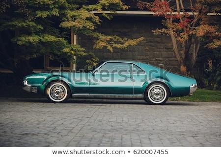 Stock fotó: öreg · amerikai · autó · kiállítás · autók · üveg
