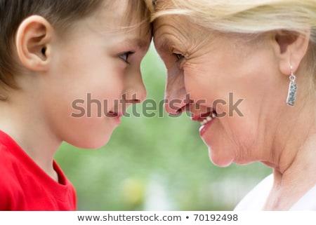 матери бабушки детей парка счастливым молодые Сток-фото © Kzenon