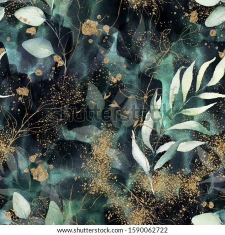 sombre · vert · floral · vintage · vecteur - photo stock © adrian_n
