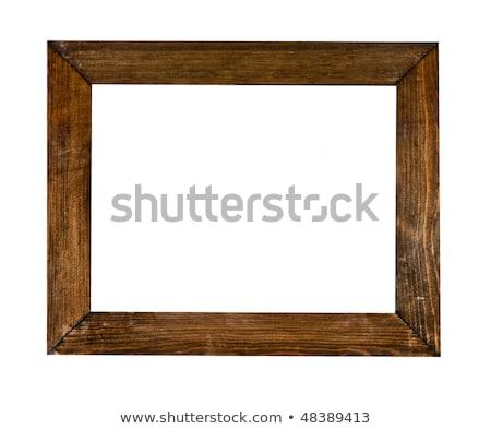 arany · fából · készült · képkeret · vágási · körvonal · antik · arany - stock fotó © oly5